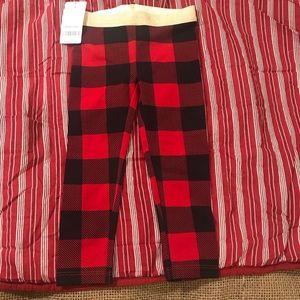 Carter's Red & Black Buffalo Check Leggings 2T